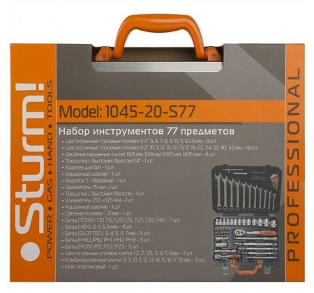 Набор головок и ключей STURM 1045-20-S77 - Фото 4