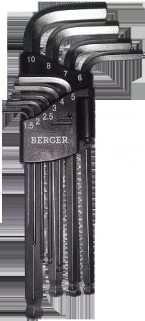 Набор шестигранных ключей BERGER BG-10SHW - Фото 2